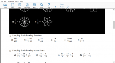 Worksheet Generator – Mathematics 1.24